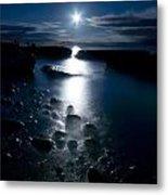 Clearville Moonrise Metal Print