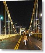 Clemente Bridge Stragglers Metal Print