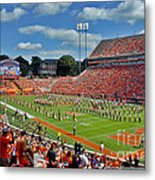 Clemson Tiger Band Memorial Stadium Metal Print