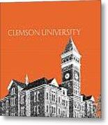 Clemson University - Coral Metal Print