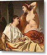 Cleopatra And Antony Metal Print