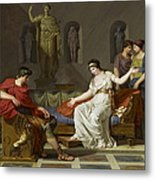 Cleopatra And Octavian Metal Print