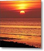 Clevedon Sunset Metal Print