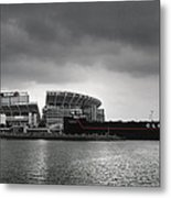 Cleveland Browns Stadium From The Inner Harbor Metal Print