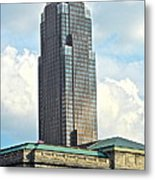 Cleveland Key Bank Building Metal Print by Frozen in Time Fine Art Photography