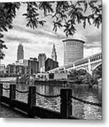 Cleveland River Cityscape Metal Print
