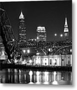 Cleveland Shining Bright Metal Print