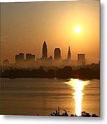 Cleveland Skyline At Sunrise Metal Print by Daniel Behm