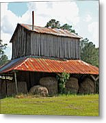 Clewis Family Tobacco Barn Metal Print