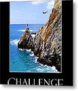 Cliff Divers Of Acapulco Metal Print