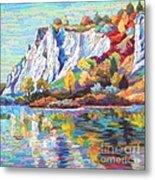 Cliff Landscape Metal Print