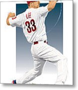 Cliff Lee Metal Print