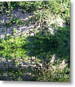 Cliff Reflections Two Metal Print