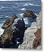 Cliffs And Coastline At California's Point Lobos State Natural Reserve Metal Print by Bruce Gourley