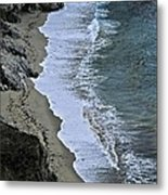 Cliffs And Surf Big Sur Coast Metal Print by Elery Oxford