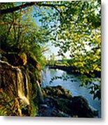 Cliffs And Trees Along Malanaphy Metal Print