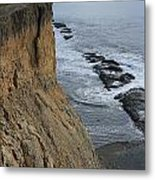 D3a6138-cliffs At Bolinas  Metal Print