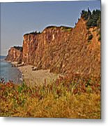 Cliffs Of Cape D'or From A Promontory Over Advocate Bay-ns Metal Print