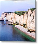 Cliffs Of Etretat 3 Metal Print