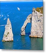 Cliffs Of Etretat France Metal Print