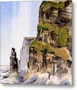 Clare   The Cliffs Of Moher   Metal Print