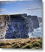 Cliffs Of Moher - Late Afternoon Metal Print