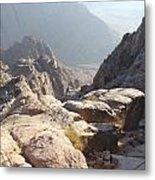 Cliffs Of Mount Sinai Metal Print