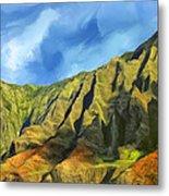 Cliffs On The Na Pali Coast Metal Print