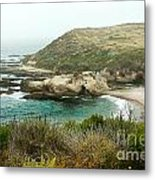 Cliffs Over Montana De Oro California Metal Print by Artist and Photographer Laura Wrede