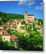 Cliffside Village Metal Print