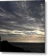 Clifftop Silhouettes Metal Print