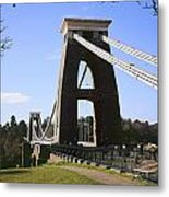 Clifton Suspension Bridge Bristol Metal Print