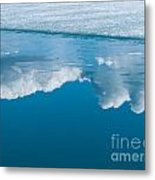 Climate Change Blue Arctic Water Reflected Clouds Metal Print