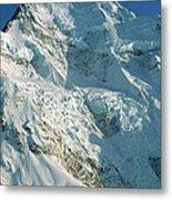 Climber Enjoying View Of Mt Cook Metal Print