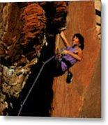 Climber, Red Rocks, Nv Metal Print