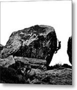 Climber Silhouette 4 Metal Print