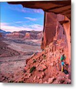 Climbers Getting Ready For Rock Metal Print