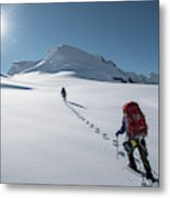 Climbers Nearing The Summit Metal Print