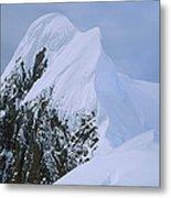 Climbers On Summit Ridge Of Mt Scott Metal Print