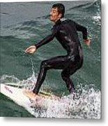 Climbing The Wave Metal Print