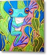 Climbing Tree Frog Metal Print