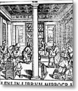 Clinic Scene, 1550 Metal Print