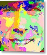 Clint Eastwood Abstract 01 Metal Print