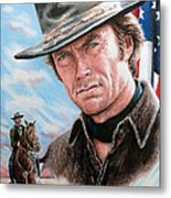 Clint Eastwood American Legend Metal Print