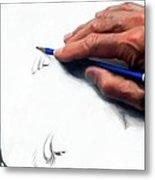 Clint Eastwood Drawing Metal Print