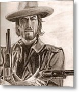 Clint Eastwood Metal Print by Michael Mestas
