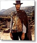 Clint Eastwood Outlaw Metal Print