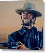 Clint Eastwood Painting Metal Print