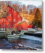 Clinton Mill In Winter Metal Print