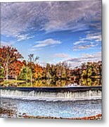 Clinton Nj Historic Red Mill Pano Metal Print
